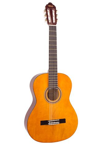 Valencia VC204 4/4 Size Classical Guitar Natural